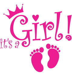Its a girl banner vector