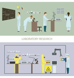 Laboratory Research by Group of Scientists vector image