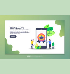 landing page template best quality modern flat vector image
