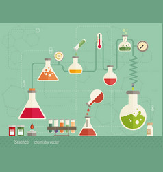 Medical laboratory infographics depicting vector
