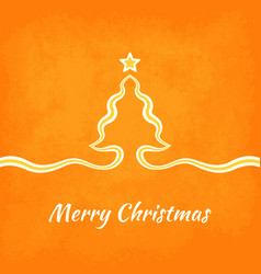 Merry christmas greeting card with tree created vector