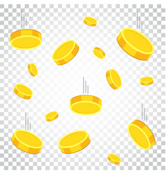 money icon on isolated background coins in flat vector image