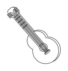 music instrument cartoon vector image