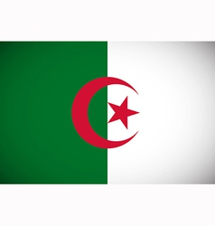 national flag algeria vector image
