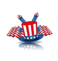 national symbols usa in american colors vector image
