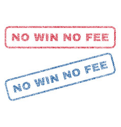 No win no fee textile stamps vector