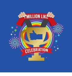 One Million Likes Celebration vector image