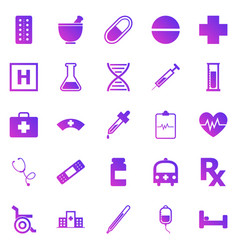 pharmacy gradient icons on white background vector image