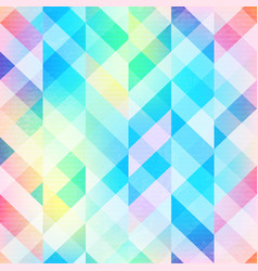 Rainbow mosaic seamless pattern vector
