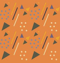 retro geometric seamless pattern trendy endless vector image
