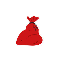 santa sack color icon element of christmas and vector image