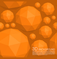Seamless 3d balls polygons vector