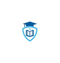 shield education logo icon design vector image
