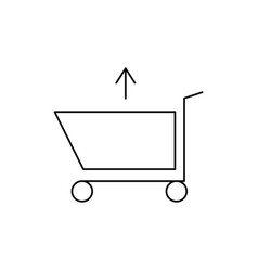 shopping caddie out vector image vector image