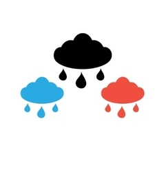 Sign cloud with rain vector