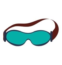 Ski goggles icon vector