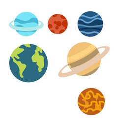 space planets cartoon or planets clipart vector image