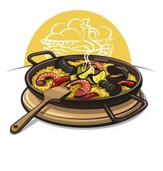 Spanish paella vector