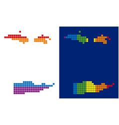 Spectrum pixel dotted usa virgin islands map vector