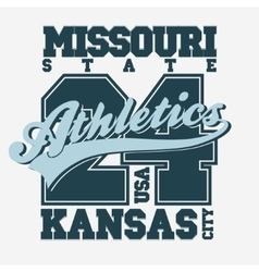 Sport T-shirt design Kansas City vector image