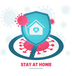 Stay at home concept vector