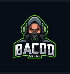 Streamer mascot logo esport vector