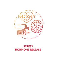 Stress hormone release concept icon vector