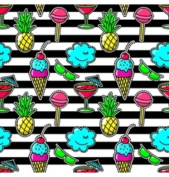 Stripe fabric fashion seamless pattern with vector image