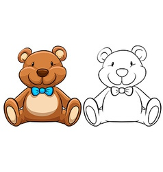 Teddy bear vector image