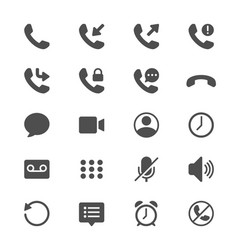 telephone glyph icons vector image