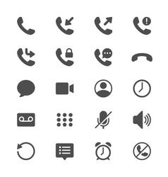 Telephone glyph icons vector
