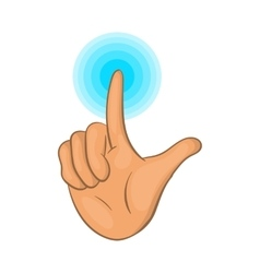 Touch screen icon cartoon style vector