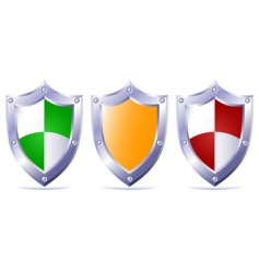 triple protection vector image