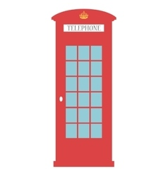 United Kingdom Telephone Box London public call vector image