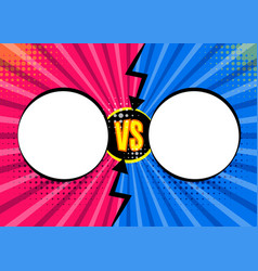 Versus vs letters fight backgrounds in flat comics vector