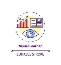 Visual learner concept icon vector