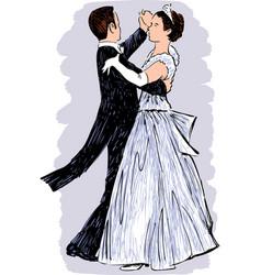 waltzing pair vector image