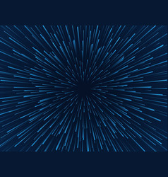 warp stars fast movement hyperspace moving stars vector image