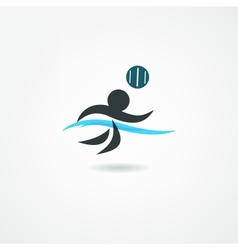 water polo icon vector image