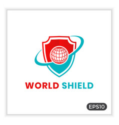 World shield logo can be used for internet vector