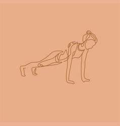 yoga line drawing vector image