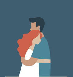young people hugging each other vector image