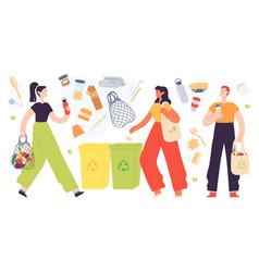 zero waste lifestyle flat eco friendly product vector image