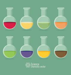 Chemical icon with background vector
