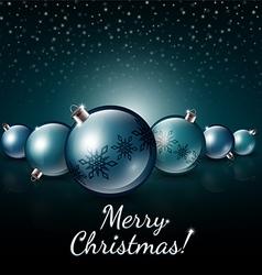 Christmas balls on a dark background vector image