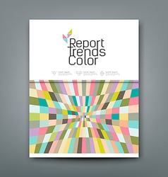 Cover annual report colorful pattern trends vector image