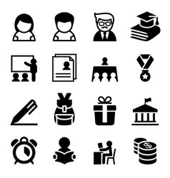 scholarship school high school university icon vector image vector image
