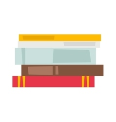 Books set icon vector image