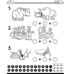 calculating activity coloring page vector image vector image