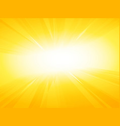 summer rays background vector image